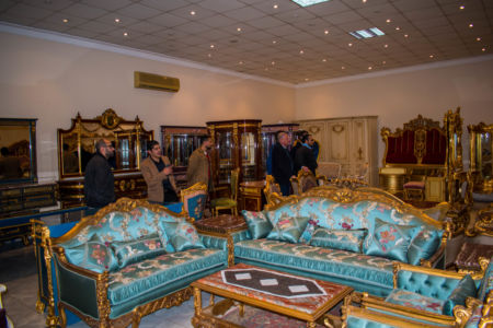 """معرض""""البيت الفرنسي"""" بدمياط وهو أحد أكبر مصدري الأثاث خارج مصر"""