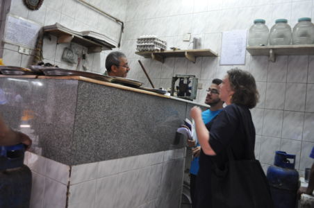 Discussions with shops owners