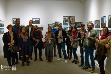 Photomarathon 2019 winners with jury members in B'sarya for Arts during the opening of the exhibition event